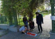 Деца обозначават  маршрутите в парковете